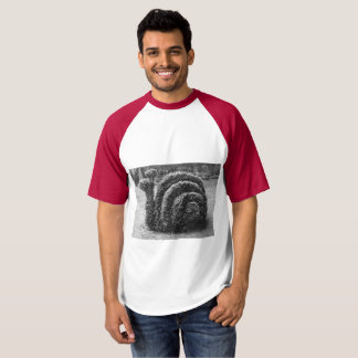Topiary garden snail clipped bush t-shirt
