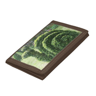 Topiary green garden snail fun trifold wallets