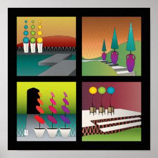 Topiary Poster – Black Border