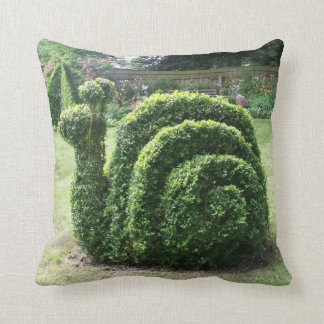 Topiary snail for the serious gardener throw pillow