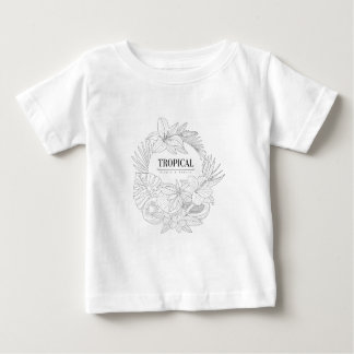 Topical Fruits And Plants Logo Baby T-Shirt