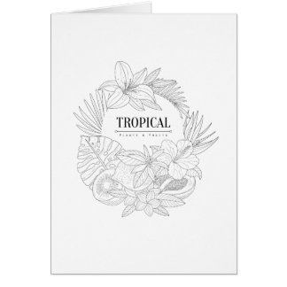 Topical Fruits And Plants Logo Card