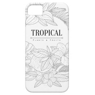 Topical Fruits And Plants Logo Case For The iPhone 5
