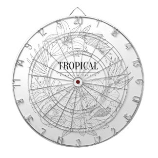 Topical Fruits And Plants Logo Dartboard
