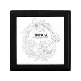 Topical Fruits And Plants Logo Gift Box