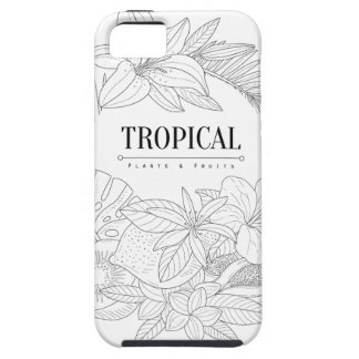 Topical Fruits And Plants Logo iPhone 5 Covers