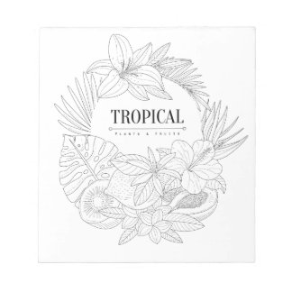 Topical Fruits And Plants Logo Notepad