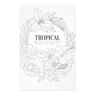 Topical Fruits And Plants Logo Stationery
