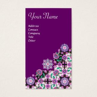 TOPKAPI, black and white,purple ,green, pink Business Card