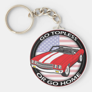 Topless or Go Home Keychain