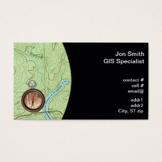 Topo map business card
