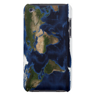 Topographic & bathymetric shading of full earth iPod touch Case-Mate case