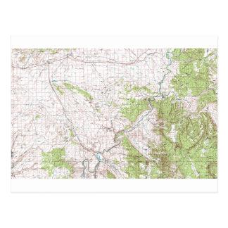 Topographic Map Postcard