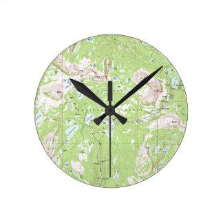 Topographic Map Round Clock