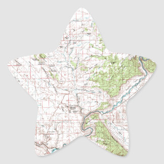 Topographic Map Star Sticker