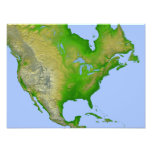 Topographic view of North America Photograph