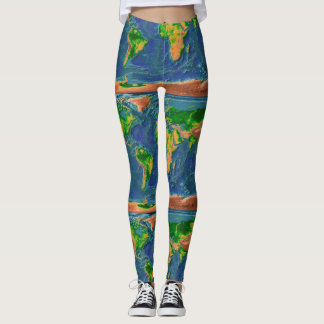 Topographical Earth Leggings