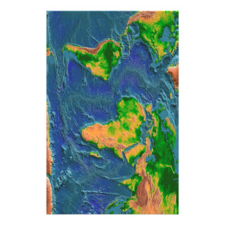 Topographical Earth Stationery