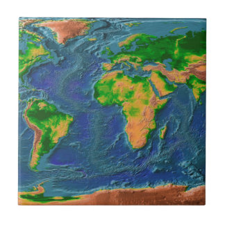 Topographical Earth Tile