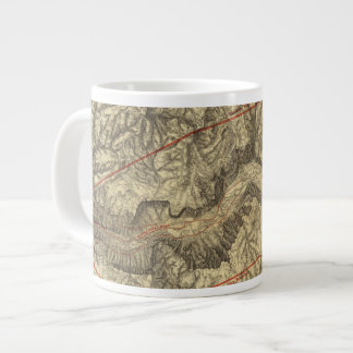 Topographical Map of The Yosemite Valley 2 Large Coffee Mug