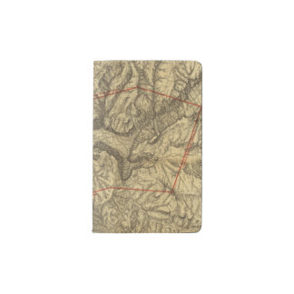 Topographical Map of The Yosemite Valley 2 Pocket Moleskine Notebook