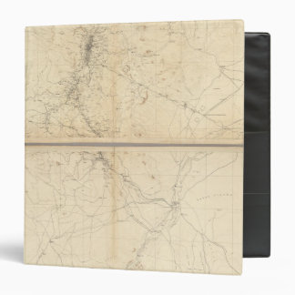 Topographical Map of Washoe Mining Region Binders