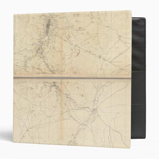 Topographical Map of Washoe Mining Region Binders