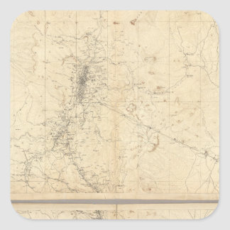 Topographical Map of Washoe Mining Region Square Sticker