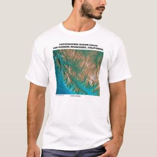 Topographical Radar Images San Gabriel Mtns CA T-Shirt