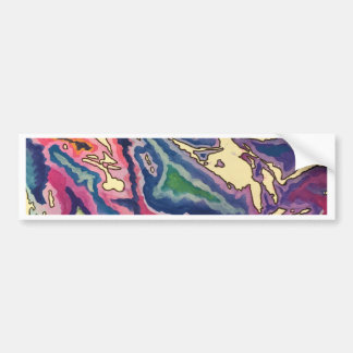 Topographical Tissue Paper Art I Bumper Sticker