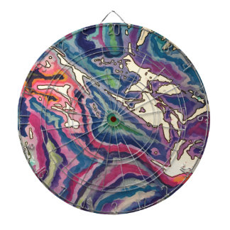Topographical Tissue Paper Art I Dartboard