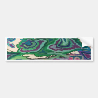 Topographical Tissue Paper Art II Bumper Sticker
