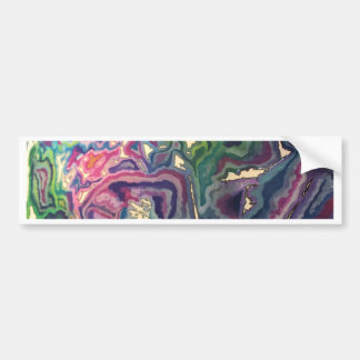 Topographical Tissue Paper Art IV Bumper Sticker
