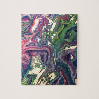 Topographical Tissue Paper Art IV Jigsaw Puzzle
