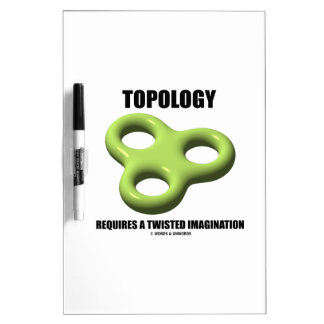 Topology Requires A Twisted Imagination Toroid Dry Erase Board