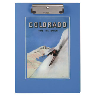 Tops the Nation - Skiing Promotional Poster Clipboard