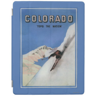 Tops the Nation - Skiing Promotional Poster iPad Cover