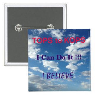 TOPS to KOPS; Weight Loss Motivation 2 Inch Square Button