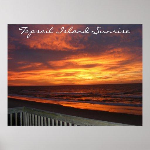 Topsail Island Sunrise Poster