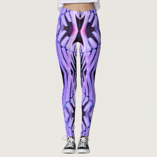 Topsy Turvy Tropical Purple Fern Leggings