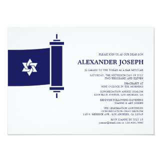 Torah Bar Mitzvah Invitation