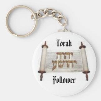 Torah Follower Basic Round Button Keychain