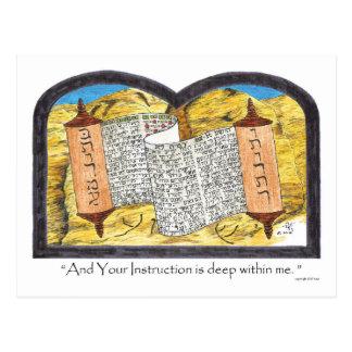 Torah Scroll Postcard