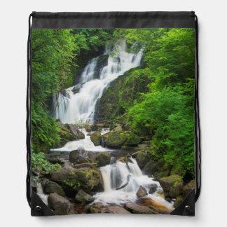 Torc waterfall scenic, Ireland Drawstring Bag