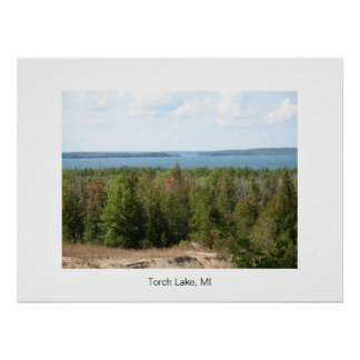 Torch Lake, Michigan Poster