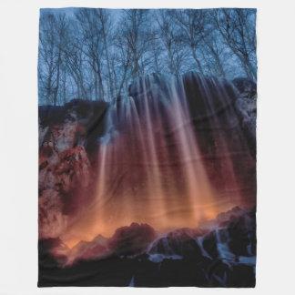 Torch Lit Waterfall Fleece Blanket