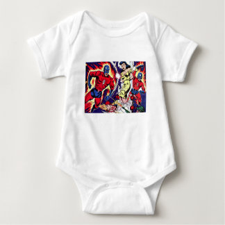 Torch Man and Torch Boy Baby Bodysuit