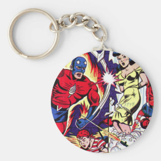 Torch Man and Torch Boy Keychain