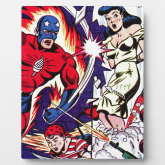 Torch Man and Torch Boy Plaque