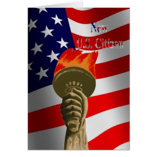 Torch of Liberty New U.S. Citizen Card